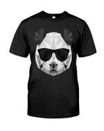Funny panda face panda polygonal wearing black glasses Tshirt panda lovers panda enthusiasts Tshirt