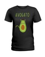 Avogato funny lovely cat in avocado shape Tshirt gift for cat lovers avocado lovers Tshirt