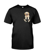 Cute lovely golden retriever puppy in pocket Tshirt gift for golden retriever lovers dog lovers Tshirt