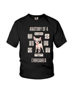 Anatomy of a chihuahua eyes ears brain mouth face legs informative Tshirt gift for chihuahua lovers dog lovers Tshirt