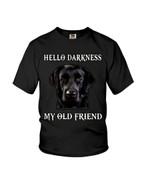 Hello darkness my old friend funny black labrador retriever Tshirt gift for labrador lovers dog lovers Tshirt