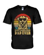 Best labrador dad ever funny labrador wearing glassess Tshirt gift for loved dad labrador lovers dog loverd Tshirt