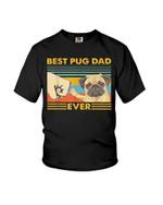 Best pug dad ever funny pug terrier cute pug Tshirt gift for pug lovers dog lovers pug dad Tshirt