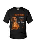 Dachshund kisses fix everything cute dachshund Tshirt gift for dachshund lovers dog lovers Tshirt