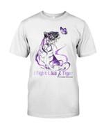 I fight like tiger fibromyalgia prevention Tthing gift for fibromyalgia fighter fibromyalgia support tiger lovers Tshirt