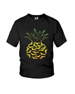 Bright yellow dachshund pineapple shape Tshirt gift for dachshund lovers dog lovers pineapple lovers Tshirt