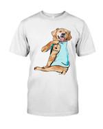 Golden retriever I love dad tattoo Tshirt gift for loved dad golden retriever lovers dog lovers Tshirt