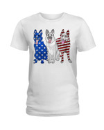 American flag german shepherd flag Tshirt gift for german shepherd lovers dog lovers Tshirt