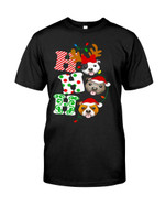 Hhh Happy christmas with funny pitbull wearing reindeer clothes cute pitbull at Christmas Tshirt gift for pitbull lovers dog lovers Tshirt