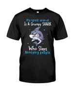My spirit animal is a grumpy shark who slaps annoying people dangerous shark Tshirt gift for shark lovers shark enthusiasts Tshirt