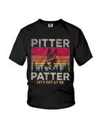 Pitter patter let's get at 'er with german shepherd dog Tshirt gift for german shepherd lovers dog lovers Tshirt