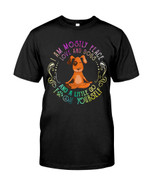 I am mostly peace love and dogs and a little go yourself Tshirt gift for hippie soul yogists dog lovers Tshirt