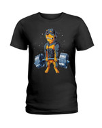 Funny rottweiler fitness rottweiler do weightlifting Tshirt gift for rottweiler lovers dog lovers Tshirt