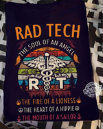 rad tech the soul of an angle the fire of a lioness t shirt best gift for him for her Tshirt