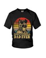 Best pitbull dad ever funny pitbull cute pitbull Tshirt gift for pitbull lovers dog lovers Tshirt