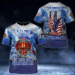 9-11-2001 20th anniversary never forget all gave some some gave all all designed memorial t shirt gift for american 3D Tshirt