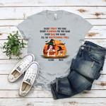 Every Treat You Make Pumpkin You Bake Bag You Shake I'll be watching Funny Dog Shirt Personalized Custom Halloween Gifts