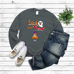 Lick or Treat Funny Dog in pumpkin Dark Custom Personalized Gifts Halloween T Shirt for Dog Lovers