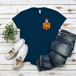 Dog Pocket Halloween Pumpkin Custom Personalized Gifts T Shirts for Dog Lovers