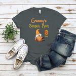 Grandma Custom T Shirt Grammy's Pumpkin Patch Halloween Personalized Gift for Family