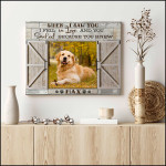 Personalized When I saw you i fell in love and you poster canvas best gift with custom photo and text for dog lovers Poster