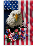 Eagle Nation America Flag Country Vertical Poster Eagle Lovers Eagle Moms American Poster