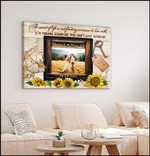 It's finding someone you can't live personalized sunflower anniversary poster canvas gift for couple with custom names photo & date Poster