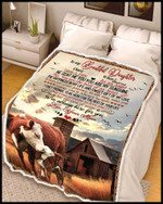 To My Beautiful Daughter I Am Always Here For You Cows Farm Blanket Gift From Mom To Daughter Quilt Blanket