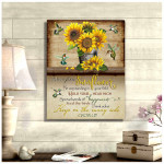 Sunflowers and Hummingbirds Canvas Advice from sunflower Wall Art Decor poster canvas best gift for sunflower lovers for Hummingbirds lovers Poster