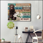 I am your friend you are my life personalized tulip flower memorial poster canvas gift for loss of loved pet with custom photo & name Poster