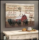 Happy moments praise god painful moments trust god every moment thank god poster canvas gift for god lovers Poster