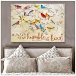 Always stay humble and kind Cardinals Motivational Poster Gift For God Believers Poster