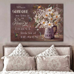 Hummingbird Canvas When Someone we love is in heaven Wall Art Decor poster canvas best gift for Hummingbird lovers Poster