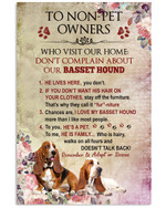 To non-pet owners who visit our home don t complain about our basset hound funny poster canvas gift for basset hound lovers Poster