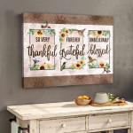 Thankful Grateful Blessed Hammingbird Sunflower Canvas Poster Gift For God Believers Poster