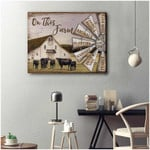 On This Farm Hard Work Animals Planting Harvest Cows Poster Gift For Cows Lovers Farm Farmers Poster