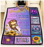To My Daughter You Were Born To Dance I Hope You Laugh Hippie Girl Blanket Gift From Mom To Daughter Quilt Blanket