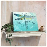 Dragonfly they whispered to her you cannot withstand the storm she whispered i am the storm poster canvas motivation gift for women Poster