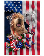 Wheaten Terrier Proud Nation A dog with an image of the American flag eagle poster canvas best gift for dog lovers Poster