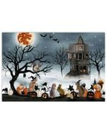 Welcome To The Little Jungle Of Squirrels beside the castle halloween poster canvas best gift for Squirrels lovers Poster