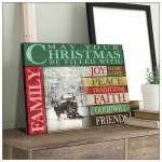 May your Christmas be filled with Joy Peace Faith Rottweiler Poster gift for Rottweiler Lovers Christmas Lovers Poster