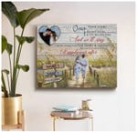 Personalized Once Upon A time Beach i became your poster canvas best gift with custom photo and text for husband for wife Poster