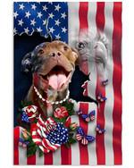 Pitbull Nation America Flag Country Vertical Poster Gift For Pitbull Lovers Pitbull Moms American Poster