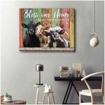 Bless our home and all those who enter Cows Farm Poster gift for Cows Lovers Farming Famers Poster