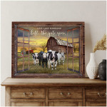 Live Like Someone Left The Gate Open Farmhouse dairy cows Wall Decor poster canvas best gift for dairy cows lovers Poster