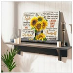 Today is a good day believe in yourself stunning sunflower pot and butterfly poster canvas gift for self motivation hippie souls Poster
