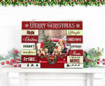 Merry Christmas Maybe Come From A Store Truck Labrador Retriever Poster gift for Labrador Retriever Lovers Christmas Lovers Poster