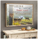 Personalized Buck and Doe I Found A Love For Me poster canvas anniversary gift with custom photo and text for husband for wife Poster