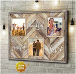 Personalized Grateful Thankful Blessed poster canvas best gift with custom photo for family Poster