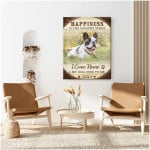 Personalized Happiness Is The Moment when i come home poster canvas best gift with custom photo and text for dog lovers Poster